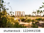ancient column ruins in athens... | Shutterstock . vector #1224441538