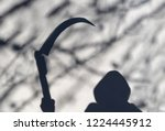 death coming  soft shadow of... | Shutterstock . vector #1224445912
