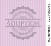 adoption badge with pink... | Shutterstock .eps vector #1224453058