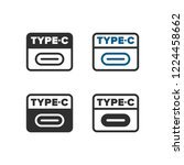 usb type c icon | Shutterstock .eps vector #1224458662