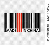 barcode made in china  vector... | Shutterstock .eps vector #1224473422