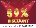 59  off discount promotion sale ... | Shutterstock .eps vector #1224479935