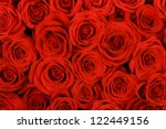 Stock photo red natural roses background 122449156