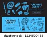 creative agency office web... | Shutterstock .eps vector #1224500488
