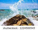 coastline of the sea rocky...   Shutterstock . vector #1224500545