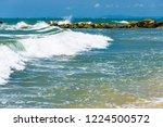 coastline of the sea rocky...   Shutterstock . vector #1224500572