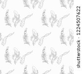 feather seamless pattern hand... | Shutterstock .eps vector #1224507622