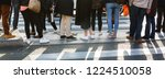 picture of the legs of a crowd... | Shutterstock . vector #1224510058