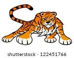 vector. tiger.