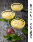 passion fruit mousse in three... | Shutterstock . vector #1224518605
