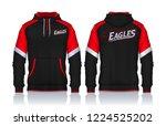 hoodie shirts template.jacket... | Shutterstock .eps vector #1224525202
