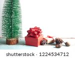 christmas gift boxes and... | Shutterstock . vector #1224534712