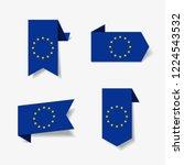 european union flag stickers... | Shutterstock .eps vector #1224543532