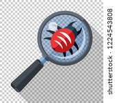 bug under a magnifying glass.... | Shutterstock .eps vector #1224543808