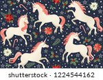 Middle Ages Print Unicorns On ...