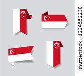 singapore flag stickers and... | Shutterstock .eps vector #1224552238