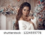 christmas portrait of... | Shutterstock . vector #1224555778