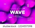 3d distorted wave lines....   Shutterstock .eps vector #1224557398