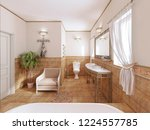 bathroom in a classic style... | Shutterstock . vector #1224557785
