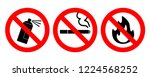 set of icons no aerosol spray... | Shutterstock .eps vector #1224568252