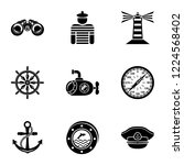 seaworthy icons set. simple set ... | Shutterstock .eps vector #1224568402