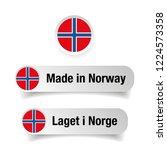 made in norway label set | Shutterstock .eps vector #1224573358