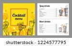 cocktail menu design template... | Shutterstock .eps vector #1224577795