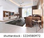 luxurious living room in... | Shutterstock . vector #1224580972