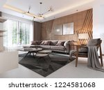 luxurious living room in... | Shutterstock . vector #1224581068