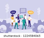 group business people with... | Shutterstock .eps vector #1224584065