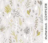 vector hand drawn floral... | Shutterstock .eps vector #1224591358
