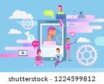social networking concept  ... | Shutterstock .eps vector #1224599812