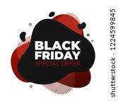 black friday sale banner fluid... | Shutterstock .eps vector #1224599845
