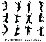 Illustration Of People Jumping...