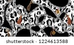 trendy seamless pattern with... | Shutterstock .eps vector #1224613588