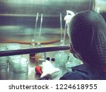 blurred of scientist doing the... | Shutterstock . vector #1224618955