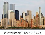 manhattan skyline and hudson... | Shutterstock . vector #1224621325