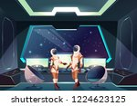 outer space explorers or... | Shutterstock .eps vector #1224623125