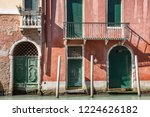 old brick and painted buildings ... | Shutterstock . vector #1224626182