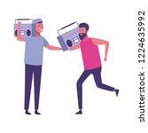 friends having fun cartoons | Shutterstock .eps vector #1224635992
