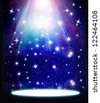 stars are falling on the... | Shutterstock . vector #122464108