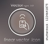 remote control icon   thin... | Shutterstock .eps vector #1224641875