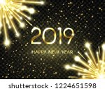 happy new year 2019 background... | Shutterstock .eps vector #1224651598