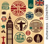 travel icons. travel stickers... | Shutterstock .eps vector #122465965