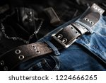 blue jeans with rock style of... | Shutterstock . vector #1224666265