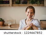 headshot of a mid adult woman... | Shutterstock . vector #1224667852