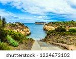 asphalt boat descent into the... | Shutterstock . vector #1224673102
