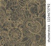 black oriental zentangle... | Shutterstock .eps vector #1224673792