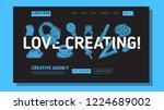 creative agency office landing... | Shutterstock .eps vector #1224689002