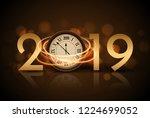 2019 new year shining...   Shutterstock . vector #1224699052